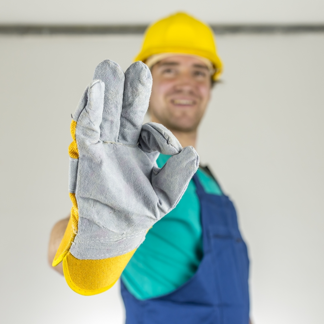 Electrician Showing Ok Hand Sign 1030x1030