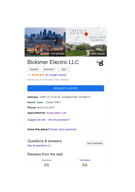 Bickimer Electric 5 Star Reviews