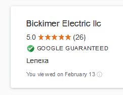 Google Guaranteed Bickimer Electric