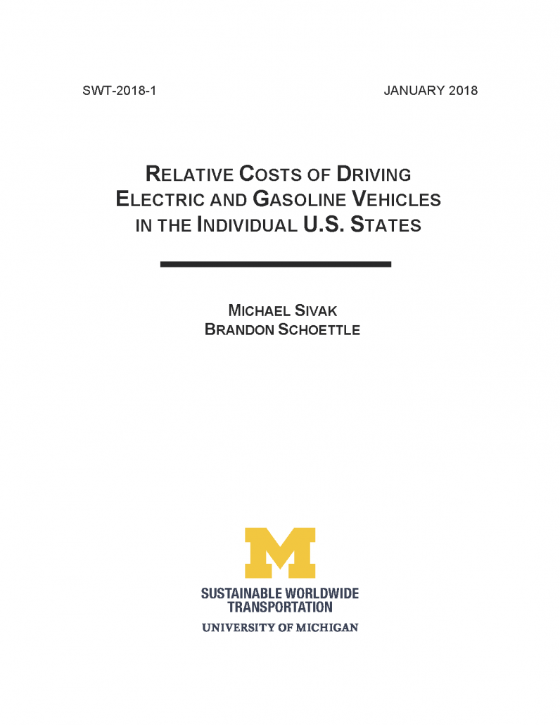 University of Michigan Electric Vehicle Study