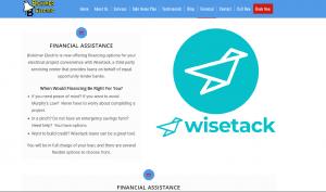 Bickimer Electrics Website Financing Page